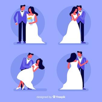 Collectie van bruid en bruidegom samen