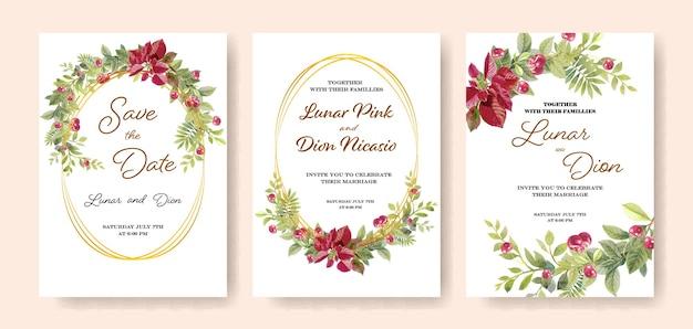 Collectie van bruiloft uitnodiging