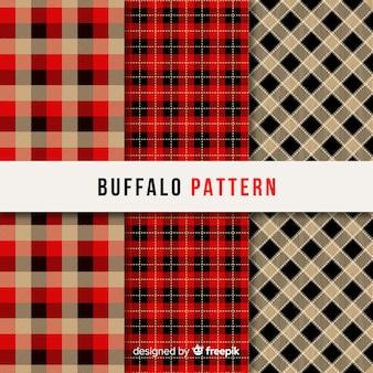 Collectie van buffalo patroon