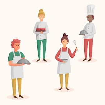 Collectie van chef-kok