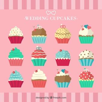 Collectie van cupcakes