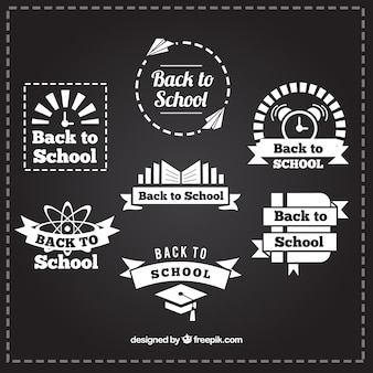 Collectie van decoratieve de school badges