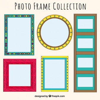 Collectie van decoratieve fotolijsten
