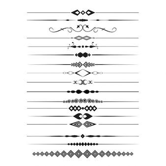 Collectie van decoratieve pagina dividers