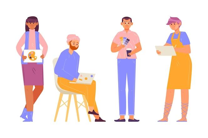 Collectie van designer mensen
