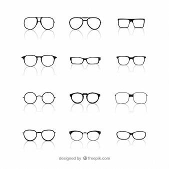 Collectie van een bril