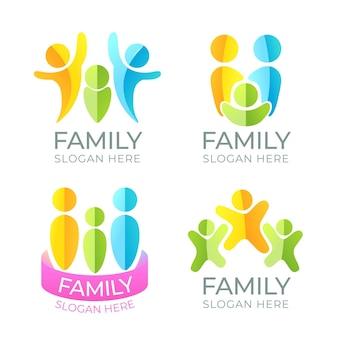 Collectie van familie-logo