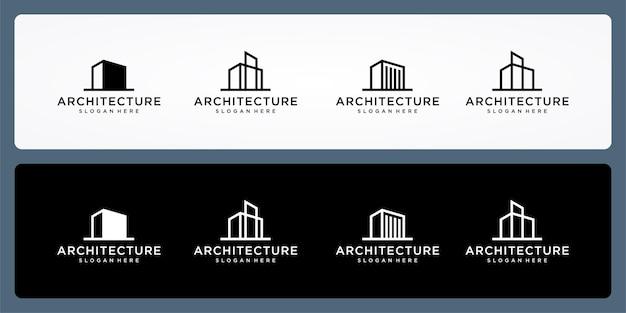 Collectie van gebouw logo. icoon voor onroerend goed, architectuur, luxe, elegant, eenvoudig.