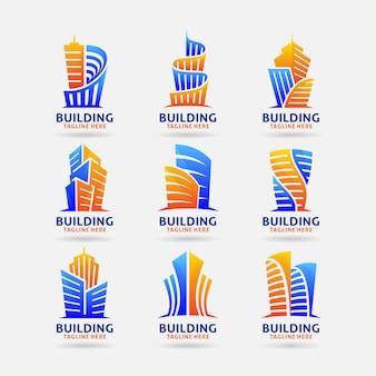 Collectie van gebouw logo