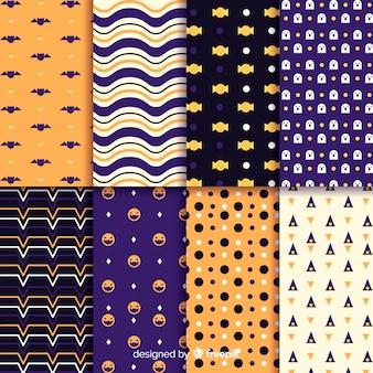 Collectie van geometrische halloween patroon