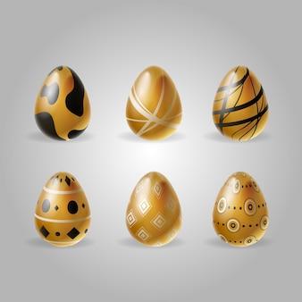 Collectie van gouden paaseieren