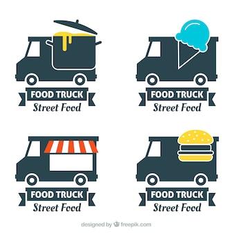 Collectie van het voedsel vrachtwagen etiket