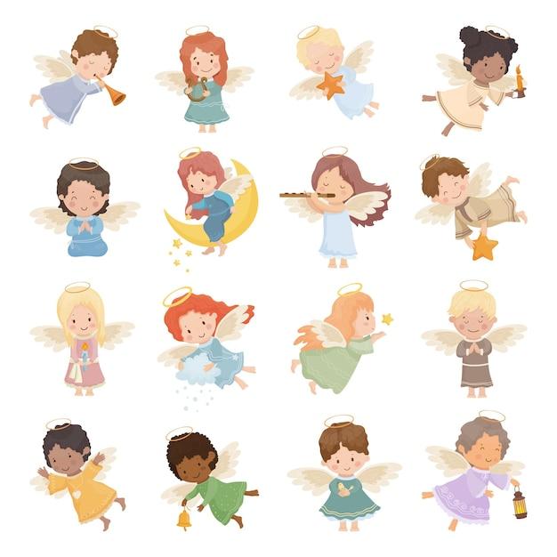 Collectie van kinderen engelen