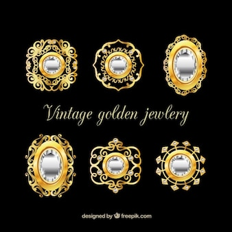 Collectie van luxe broche