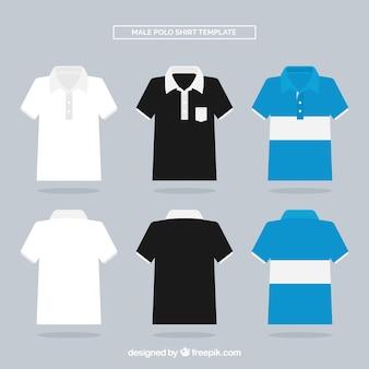 Collectie van mannelijk polo shirt