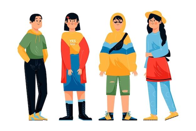Collectie van mode jonge koreanen