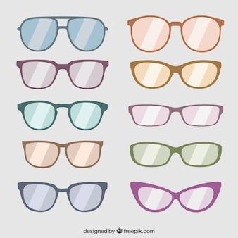 Collectie van modieuze zonnebril
