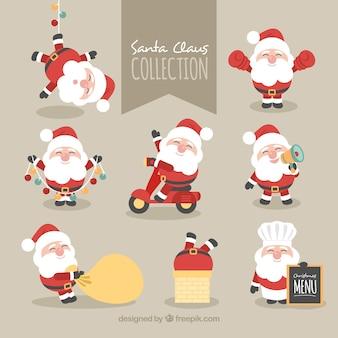 Collectie van mooi karakter van kerstman