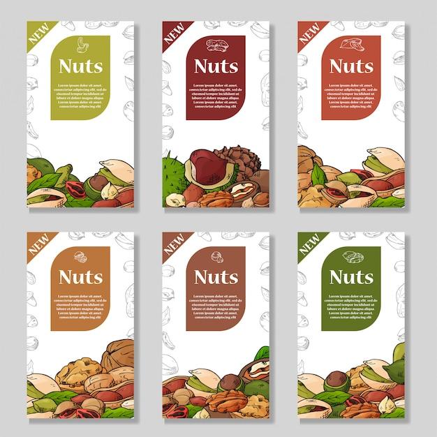 Collectie van noten en zaden.