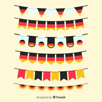 Collectie van oktoberfest slinger plat ontwerp