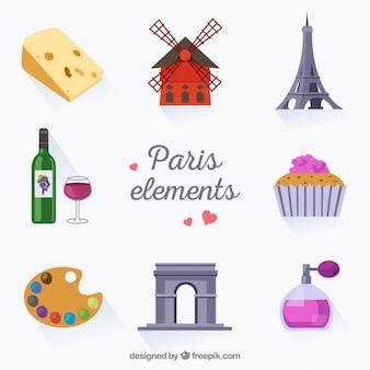 Collectie van paris elementen
