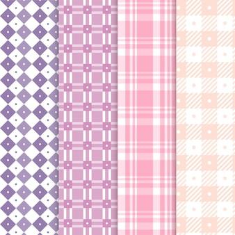 Collectie van pastel pastel patroon