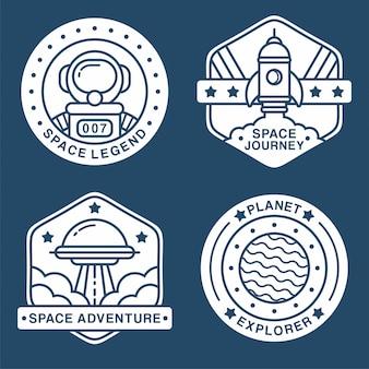 Collectie van ruimtelabels