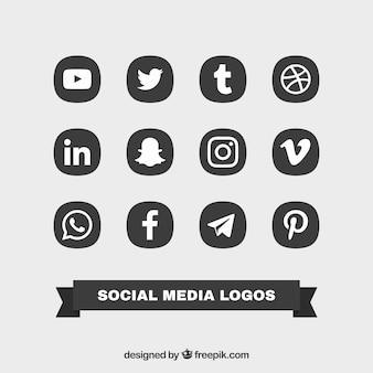 Collectie van sociale logos
