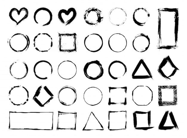 Collectie van textuur frames