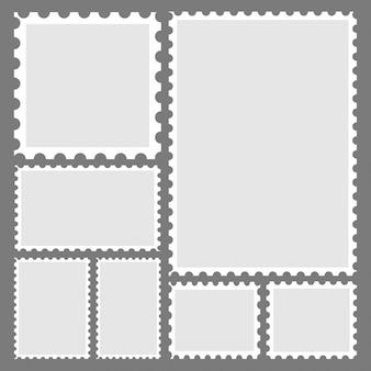 Collectie van trendy stempel voor label, sticker, app, mockup postzegel en behang.
