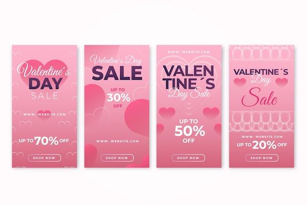 Collectie van valentijnsdag verkoopverhaal