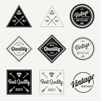 Collectie van vintage retro badge