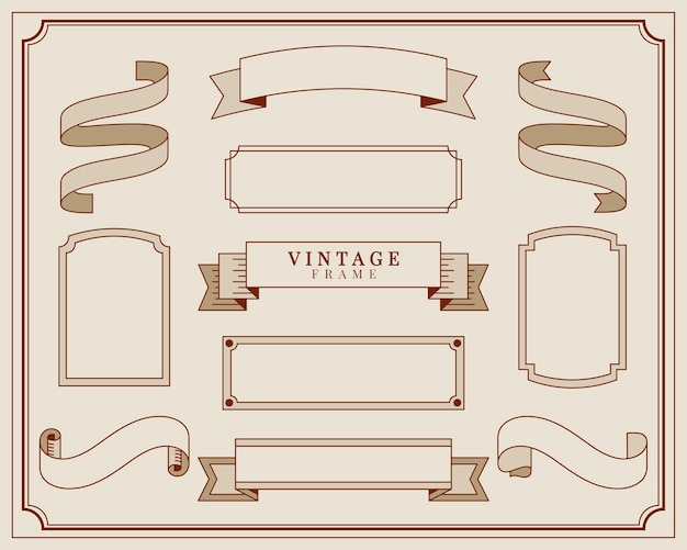 Collectie van vintage sieraad frame illustratie