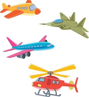 Collectie van vliegtuigen