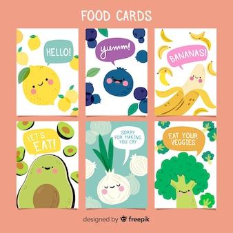 Collectie van voedselkaarten
