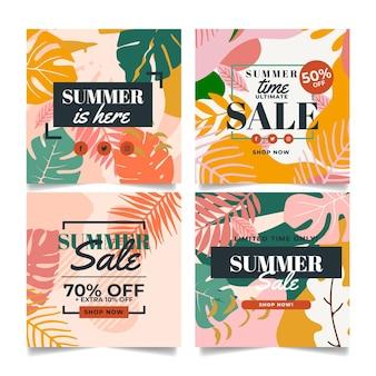 Collectie van zomerkaarten