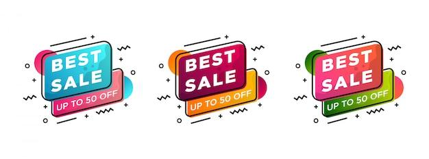 Collectie verkoop tag en super kortingssticker