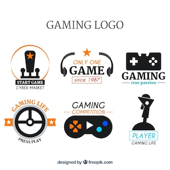 Collectie videogamecontent met plat ontwerp