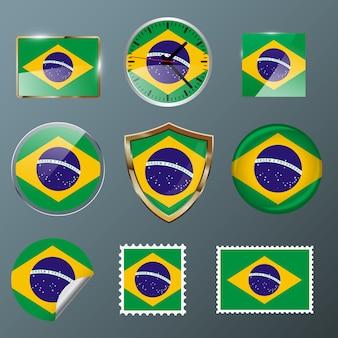 Collectie vlag brazilië