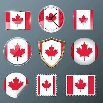 Collectie vlag canada