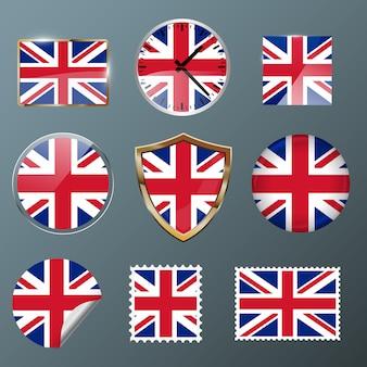 Collectie vlag verenigd koninkrijk