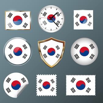 Collectie vlag zuid-korea