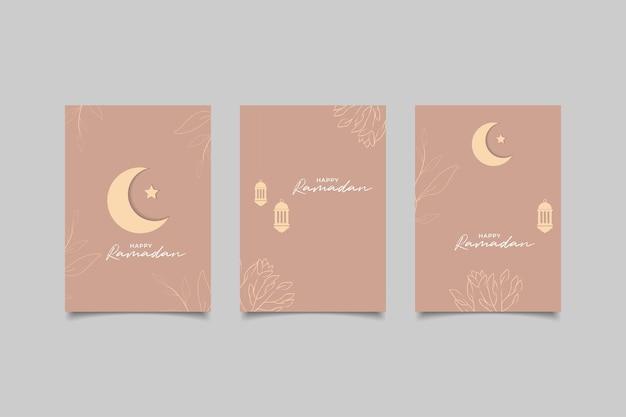 Collectie wenskaart voor gelukkige ramadan