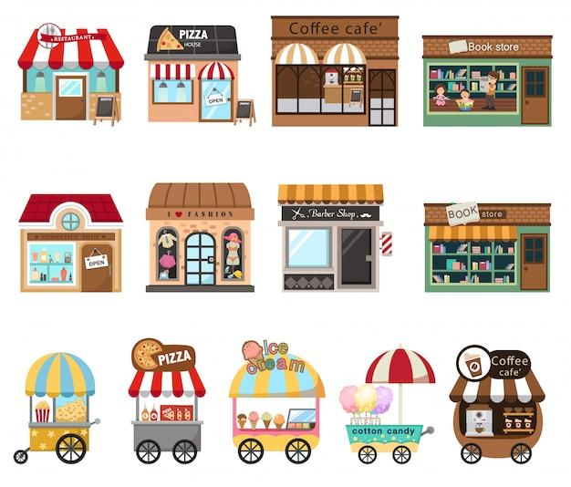 Collectie winkelwinkel