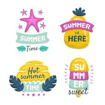 Collectie zomeretiketten