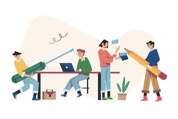 Collectief denken en brainstormen over bedrijfsinformatieanalyses