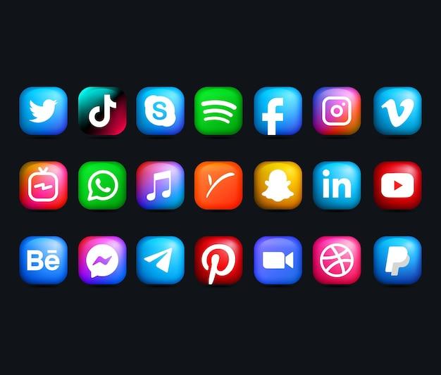Collecties van social media-logo's