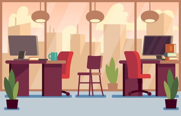 Collectieve bedrijfsbureau modieuze moderne binnenlandse illustratie