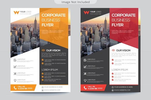 Collectieve flyer-sjabloon voor het bedrijfsleven