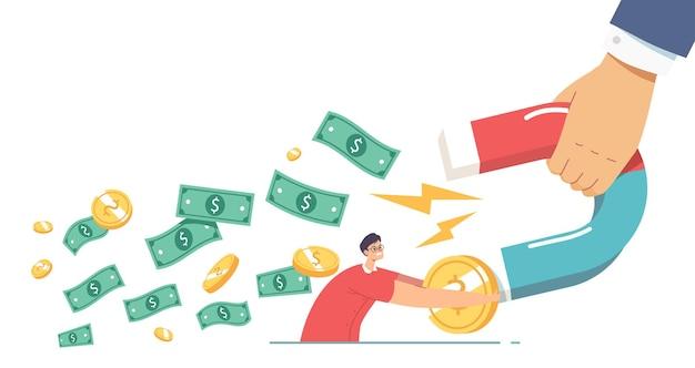 Collectors chase, vraag naar financiële leningen van lener, incassoconcept